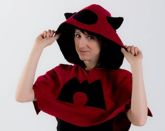 Team Magma inspired cosplay poncho hoodie