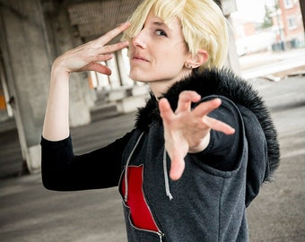 Gladion cosplay hoodie inspired by Pokemon Sun and Moon