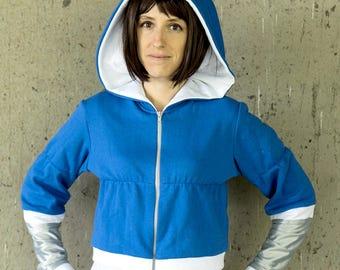 Underswap Napstablook/Napstabot inspired cosplay hoodie