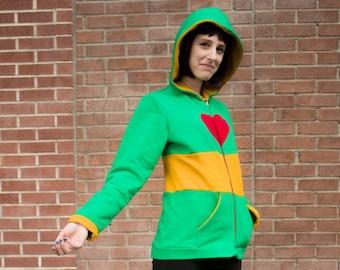 Undertale Chara inspired cosplay hoodie