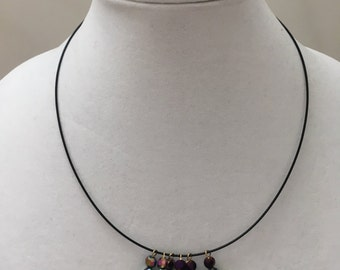 Dangle Bead Wire Necklace