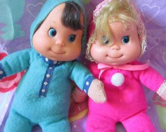 Vintage 1970 Mattel Itsy Bitsy Baby Beans Pidgy & Piffle dolls variation