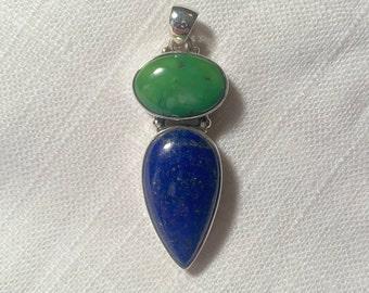 Turquoise Lapis Lazuli Nepal 714 Amulet KALACHAKRA