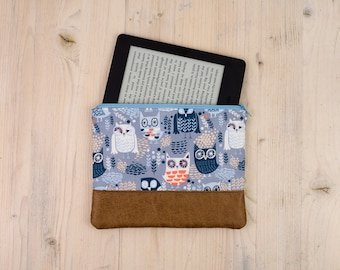Multipurpose bag blue with owls