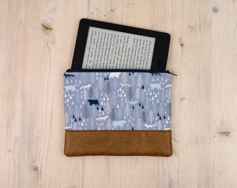 Multipurpose bag blue-gray with Nordic pattern in 2 variants