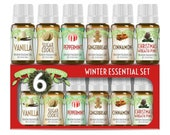 Winter Essential Premium Grade Fragrance Oil Set of 6 - Scented Oils - 10ml - Great for Candle Making, Soap Making, Slime, Diffusers