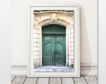 Nice Green Door Photo Office Wall Art Farmhouse Decor Cottage Chic Provence  France French Home Decor Architecture Print Digital Download Paris