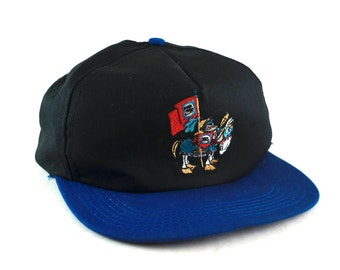 348ad8cbca4 Vintage Dragons layer Cartoon Snapback Hat    90s Two Tone Hat    Baseball  Cap    Knight on Horse