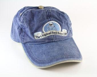 4181ff3a250cc The Original Bad Boys Club Dad Hat    Skull and Crossbones Pirate Baseball  Cap    Blue Ocracoke Island NC Hat