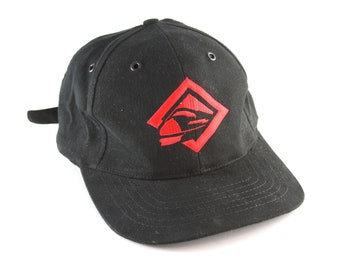 e9f1972244203 Vintage Marlboro Unlimited Destinations Bullet Train Dad Hat    90 s  Cigarette Advertising Baseball Cap    Black and Red Cap