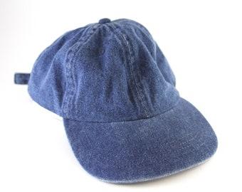 aaa464ee97b Plain Denim Dad Hat    Low Profile Jean Baseball Cap with an Adjustable  Strapback