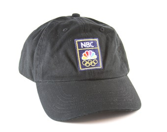 be01cb34cfd NBC Olympic Rings Black Low Profile Dad Hat    Olympic Games Unstructured Baseball  Cap with Adjustable Strapback
