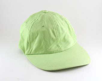 Vintage Plain Lime Green Dad Hat    Classic Low Profile Baseball Cap     Women s One Size Fits All 675e19bdf7fe