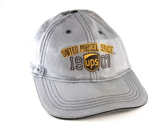3ebf39840d4 UPS Parcel Service 1907 Gray Baseball Cap with Adjustable Snapback    Postal  Employee Worker Hat    Vintage Dad Hat