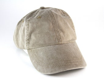 Plain Khaki Tan Low Profile Dad Hat    Classic Tan Unstructured Baseball Cap  with Adjustable Faux Leather Strapback 0abe66dd4d71