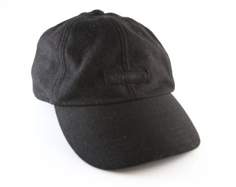 Black Fleece Banana Republic Baseball Cap with an Adjustable Strapback     Low Profile Winter Dad Hat adde89fa49c9