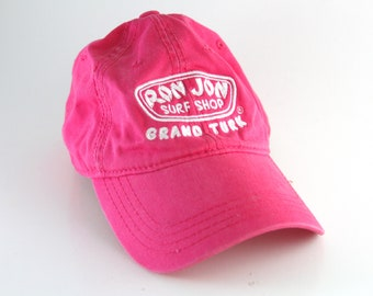 1228dc4178509 Ron Jon Surf Shop Grand Turk Pink Dad Hat    Low Profile Baseball Cap with  Adjustable Strapback    Surf Board Surfing Hat