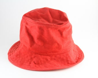 Plain Red Corduroy Bucket Hat    Size Small-Med    90 s Camping Vacation  Cap    Roll Up Gilligan Hat b9d1ff6cd0a