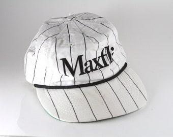 c92bde182af46 Rare Vintage Maxfli Golf Hat Cap    1980 s Pinstripe Trucker Style Baseball  Cap    VTG Striped Made in the USA Golf Hat
