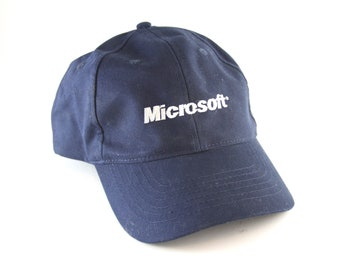5e9772c307c Microsoft Computers Blue Dad Hat    Embroidered Microsoft Logo Computing  Baseball Cap with an Adjustable Strapback