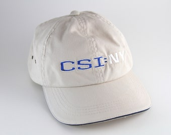 f14bbb62bd3d5 CSI  NY Season Two Dad Hat    Crime Scene Investigation New York Baseball  Cap    Khaki Beige TV Show Hat with Adjustable Strapback