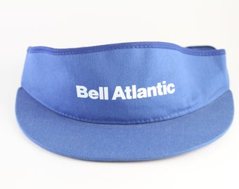 dea7085874f Vintage Bell Atlantic Blue and White Sun Visor    Adjustable Telephone  Company Hat Cap
