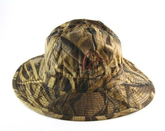 Ducks Unlimited Camouflage Bucket Hat    Size Small-Med    Camo Hunting Cap bbb7afecfeb