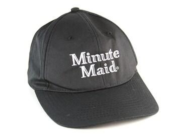 9944e8a93c748 Minute Maid Juice Black Dad Hat with Adjustable Strapback    Classic Black  Low Profile Baseball Cap