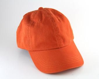 Plain Orange Dad Hat with Adjustable Strapback    Classic Baseball Cap b7b9ccc9ab06