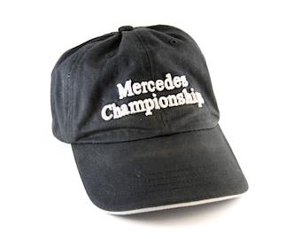 7bb1d2f10bcb8 Mercedes Championships Callaway Golf Black Dad Hat    Golfing Baseball Cap  with and Adjustable Strapback