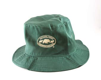 326363aeb2b National Parks Conservation Association - NPCA - Forest Green Bucket Hat     Lightweight Summer Hat    Floppy Rollup Hat    Vacation Dad Hat