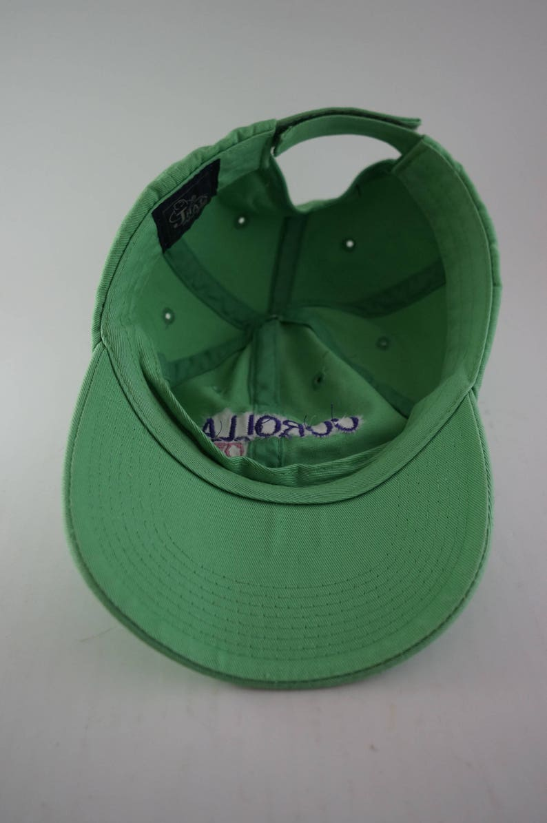 1f722b32bd6c0 Vintage Corolla OBX Dad Hat    Lime Green Baseball Cap    90s