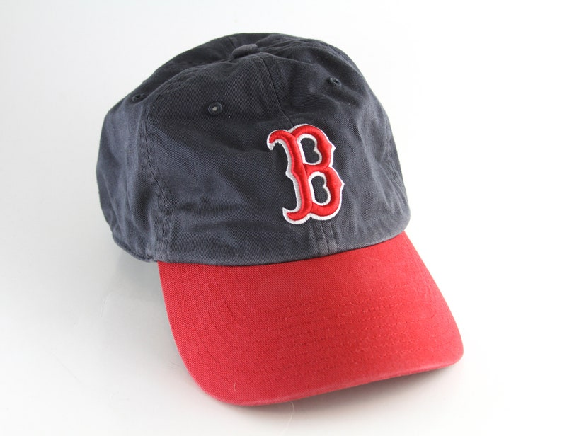 114841057 Boston Red Sox Fitted Blue and Red Baseball Cap Size XL // | Etsy