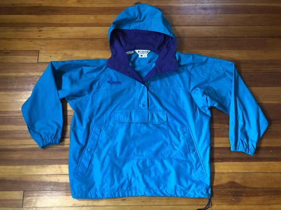 55656e1e5f7 Vintage Columbia Women s Hooded Pullover    Blue and
