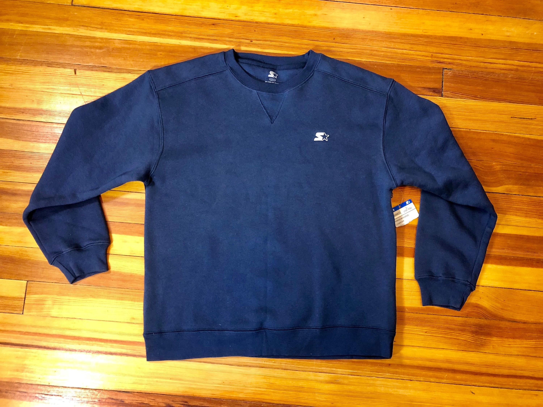 d0b5ce8ada6 90 s Navy Blue Crew Neck Starter Sweatshirt    Boys Size