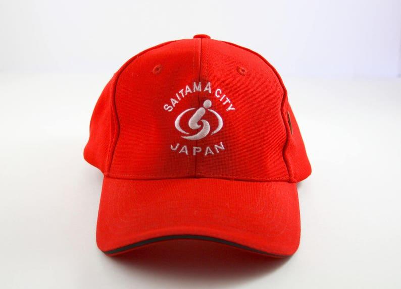 f00b3793da71d Saitama City Japan Red Baseball Cap    Red Japanese Dad Hat
