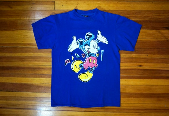 65f777c54f6d1 Vintage Mickey Mouse Walt Disney Blue T-Shirt    Mickey