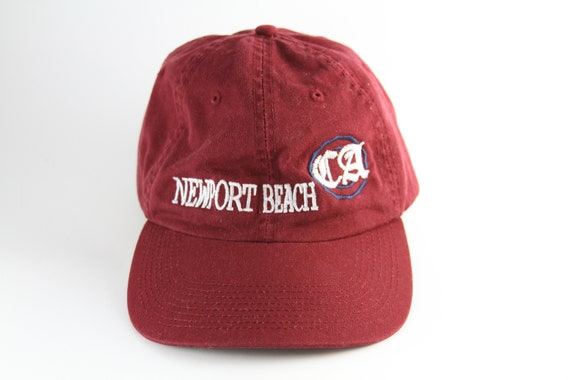 774a183f904 Newport Beach California Maroon Embroidered Dad Hat    Red Low