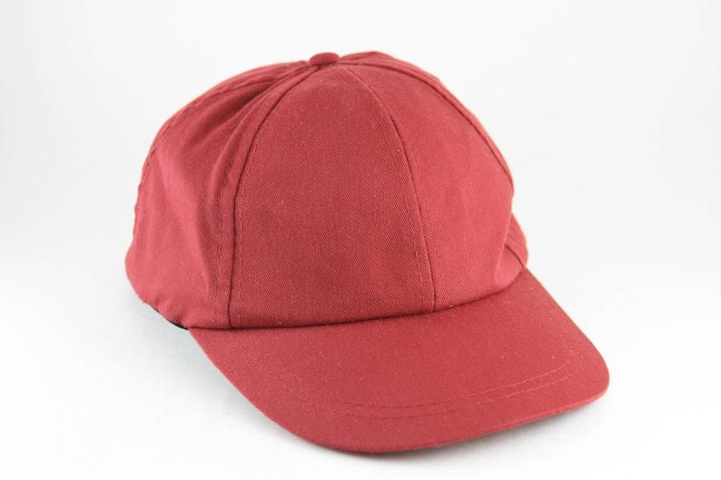 5bc4f176162 Plain Red Maroon Baseball Cap with Adjustable Strapback // Classic Basic  Dad Hat