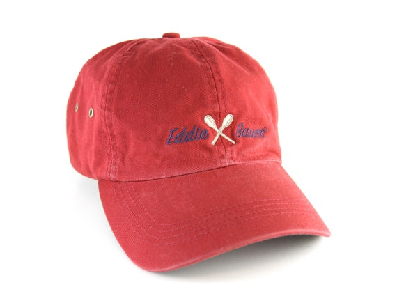 af2cdfe72663b Red Eddie Bauer Dad Hat with Adjustable Strapback    Plain