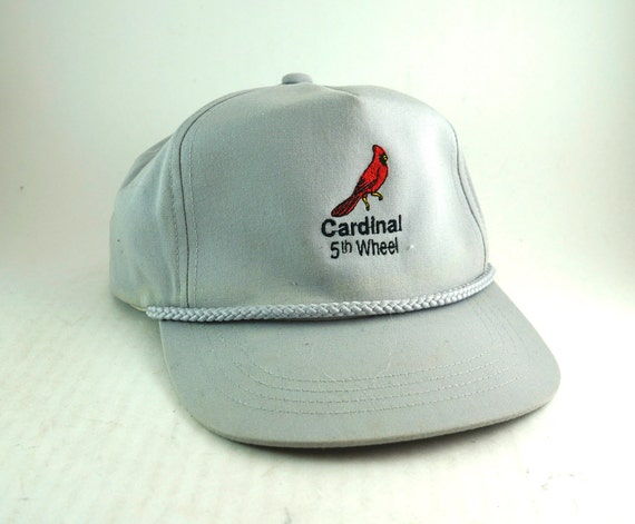 21445da183b2b Vtg Cardinal 5th Wheel Gray Hat with Rope Detail    Adjustable