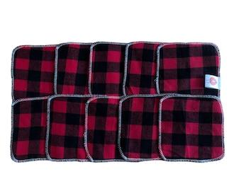 10 Lingettes démaquillantes lavables
