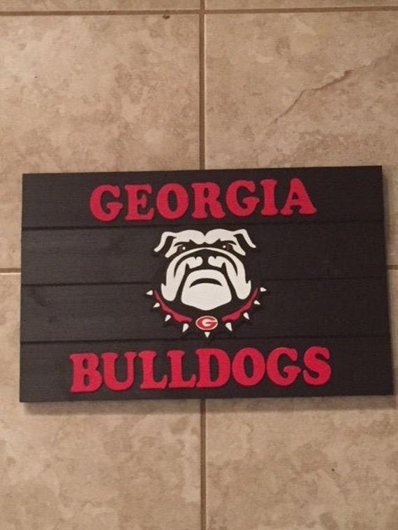 Georgia Bulldogs Wooden Sign
