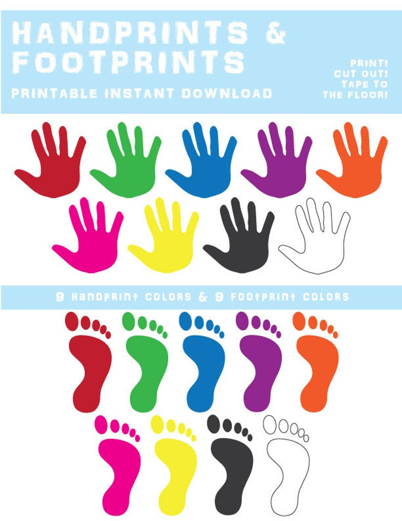 picture regarding Sign Language Colors Printable known as Hand Print and Footprint Printable Quick Obtain