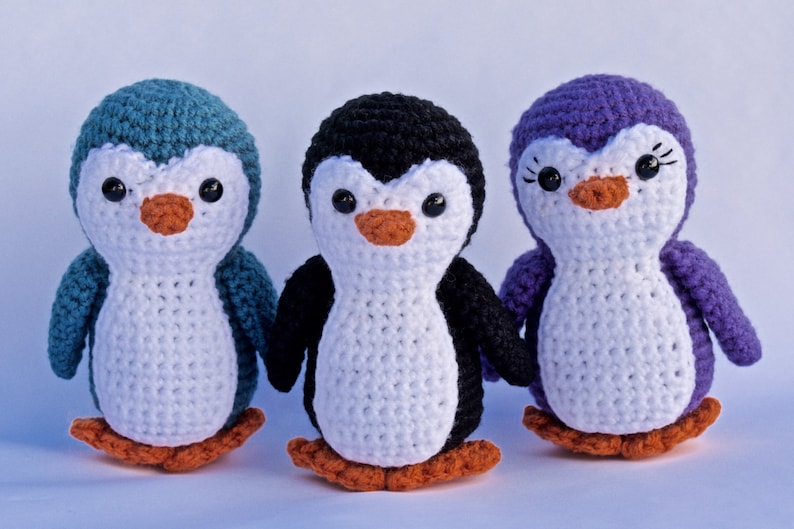 Penguin Crochet Pattern Etsy