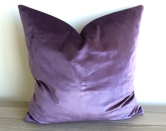 Launch SALE Eggplant Velvet Pillow Cover Eggplant Decorative Pillow  Aubergine Velvet Throw Pillow Purple Velvet Cushion Purple Accent Pillow d5a35091ed
