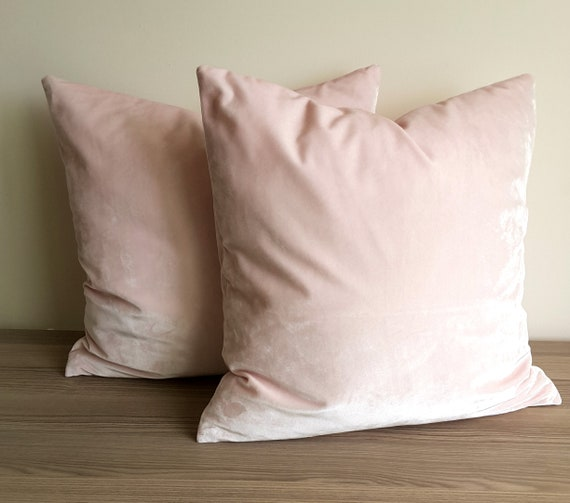 Blush Throw Pillow, Solid Blush Pillow