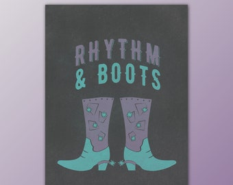 Rhythm & Boots Country Roots Print Mini Print in Purple