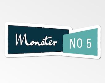 Monster No 5 Logo Die-Cut Sticker