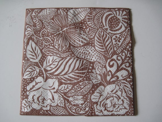 4x Paper Napkins for Decoupage Decopatch Craft Natural Wood Gray